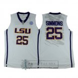 Camiseta NCAA LSU Tigers Simmons Blanco