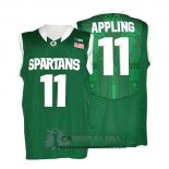 Camiseta NCAA Michigan State Spartans Keith Appling Verde