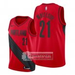 Camiseta Portland Trail Blazers Hassan Whiteside Statement Rojo