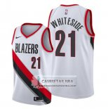 Camiseta Portland Trail Blazers Hassan Whiteside Association Blanco