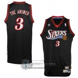 Camiseta Apodo 76ers The Answer Negro