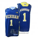 Camiseta NCAA Michigan State Spartans Glenn Robinson Azul