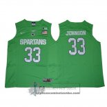 Camiseta NCAA Michigan State Spartans Magic Johnson Verde