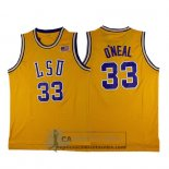Camiseta NCAA Retro LSU Tigers O'Neal Amarillo