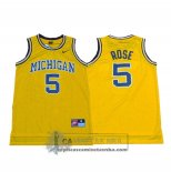 Camiseta NCAA Retro Michigan State Spartans Rose Amarillo