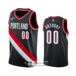 Camiseta Portland Trail Blazers Carmelo Anthony Icon Negro