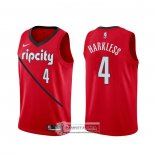 Camiseta Portland Trail Blazers Maurice Harkless Earned Rojo