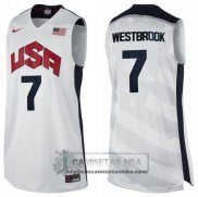 Camiseta USA 2012 Westbrook Blanco