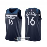 Camiseta Minnesota Timberwolves James Johnson Icon Negro