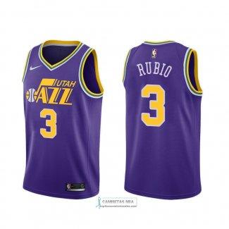 Camisetas NBA Utah Jazz Ricky Rubio Classic 2018-19 Violeta replicas tienda online