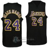 Camiseta Apodo Lakers Black Mamba Purpura Negro