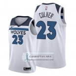 Camiseta Minnesota Timberwolves Jarrett Culver Association 2019-20 Blanco
