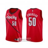 Camiseta Portland Trail Blazers Caleb Swanigan Earned Rojo