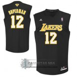 Camiseta Apodo Lakers Superman Negro