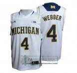 Camiseta NCAA Michigan State Spartans Chirs Webber Blanco