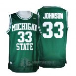 Camiseta NCAA Retro Michigan State Spartans Johnson Verde