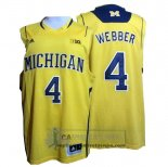 Camiseta NCAA Michigan State Spartans Chirs Webber Amarillo