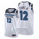 Camiseta Minnesota Timberwolves Jacob Evans III Association 2019-20 Blanco