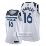 Camiseta Minnesota Timberwolves James Johnson Association 2019-20 Blanco