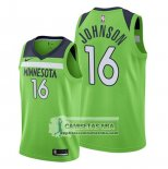 Camiseta Minnesota Timberwolves James Johnson Statement 2019-20 Verde