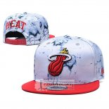 Gorra Miami Heat 9FIFTY Snapback Blanco Rojo