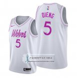 Camiseta Minnesota Timberwolves Gorgui Dieng Earned Blanco