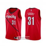 Camiseta Portland Trail Blazers Seth Curry Earned Rojo