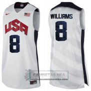 Camiseta USA 2012 Williams Blanco