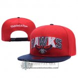 Gorra Hawks Mitchell&Ness Leather Rojo