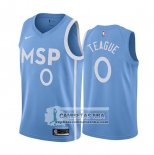 Camiseta Minnesota Timberwolves Jeff Teague Ciudad Edition Azul
