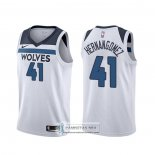Camiseta Minnesota Timberwolves Juancho Hernangomez Association 2019-20 Blanco