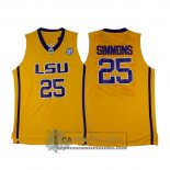 Camiseta NCAA LSU Tigers Simmons Amarillo