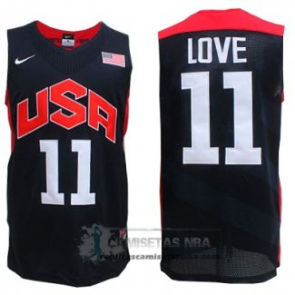 Camiseta USA 2012 Love Negro
