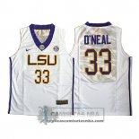 Camiseta NCAA LSU Tigers O'Neal Blanco