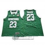 Camiseta NCAA Michigan State Spartans Draymond Green Verde