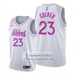 Camiseta Minnesota Timberwolves Jarrett Culver Earned 2019-20 Blanco
