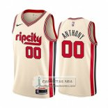 Camiseta Portland Trail Blazers Carmelo Anthony Ciudad 2019-20 Cream