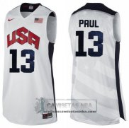 Camiseta USA 2012 Paul Blanco