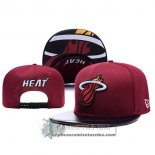Gorra Heats Leather Rojo