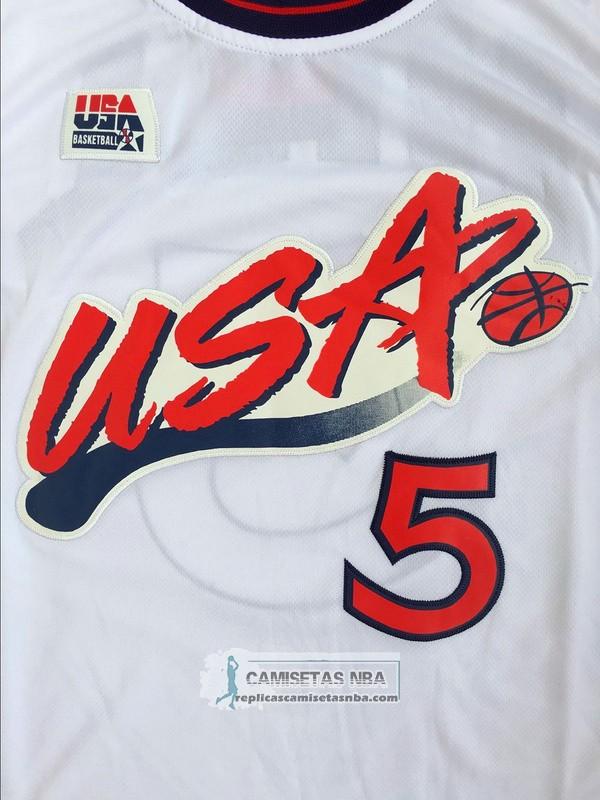 Camisetas NBA USA 1996 Hili Blanco replicas tienda online
