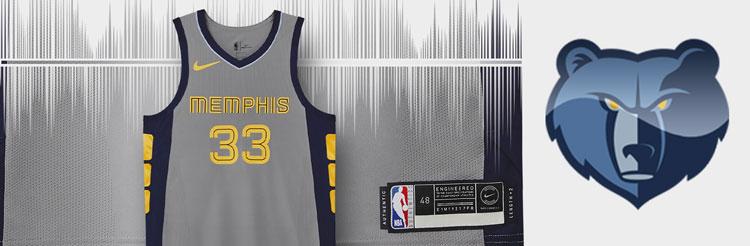 Camisetas NBA Memphis Grizzlies replicas tienda online