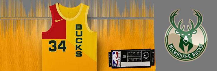 Camisetas NBA Milwaukee Bucks replicas tienda online
