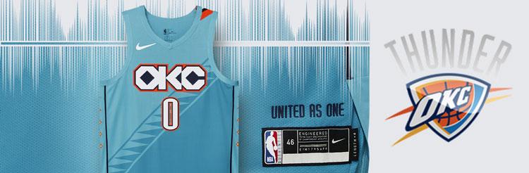 Camisetas NBA Oklahoma City Thunder replicas tienda online