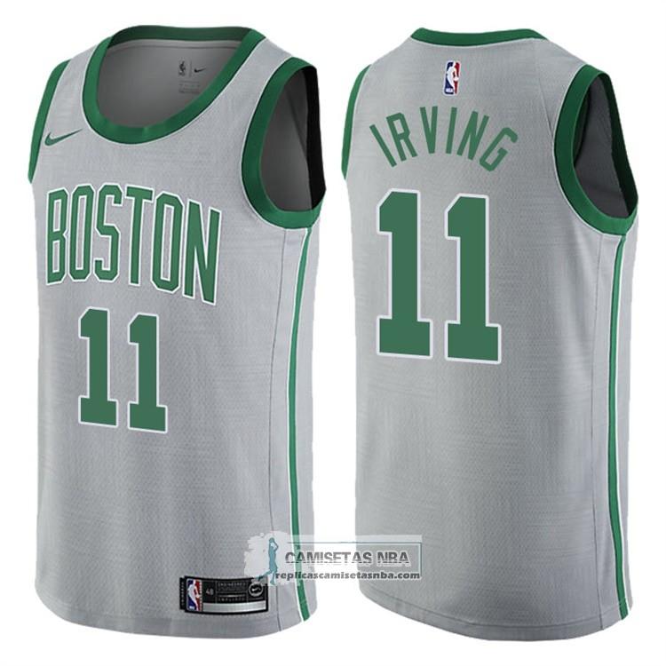 5aa0398d78cbc Camisetas NBA Celtics Kyrie Irving Ciudad Gris replicas tienda online