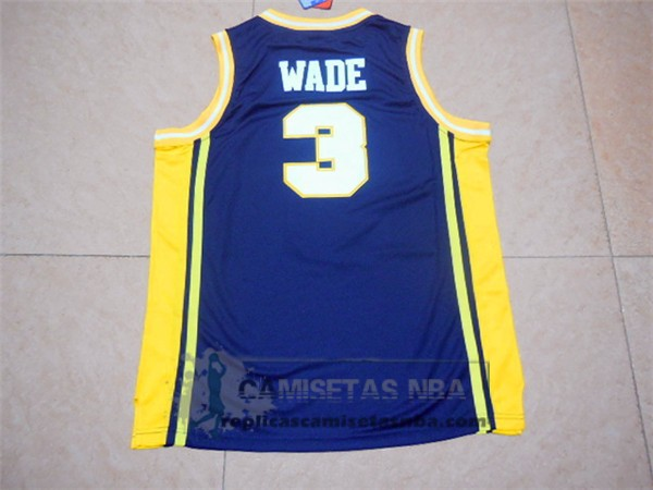 Camiseta NCAA Marquette Golden Eagles Dwyane Wade Azul