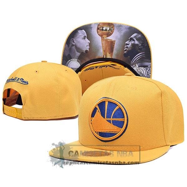 4c7c2f80c1430 Camisetas NBA Gorra Warriors Champions Amarillo replicas tienda online