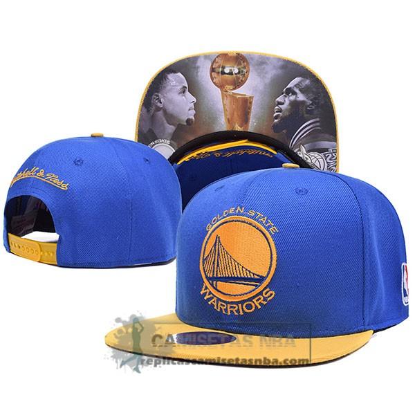 Camisetas NBA Gorra Warriors Champions Azul replicas tienda online 87ed23eafb6