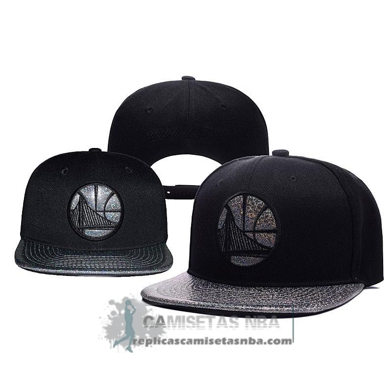 15d796baff56a Camisetas NBA Gorra Warriors Chrome Chenille Negro Gris replicas ...