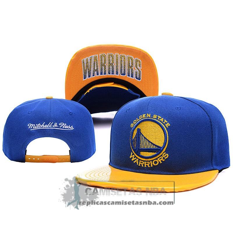 723746542e00b Camisetas NBA Gorra Warriors Leather Azul Amarillo replicas tienda ...