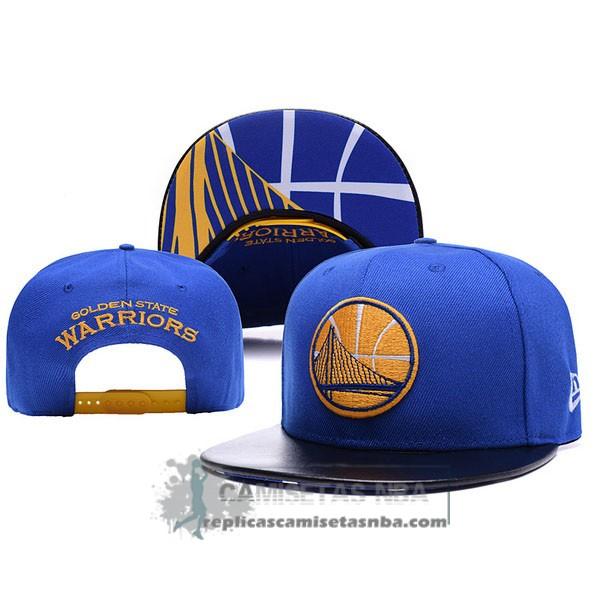 8b9200015af02 Camisetas NBA Gorra Warriors Leather Azul replicas tienda online